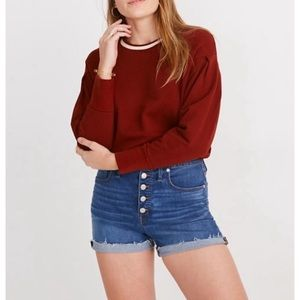 Madewell High Rise Denim Shorts Button Fly Derby